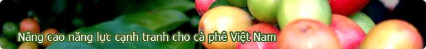 Nâng cao tính cạnh tranh cho cà phê Việt Nam