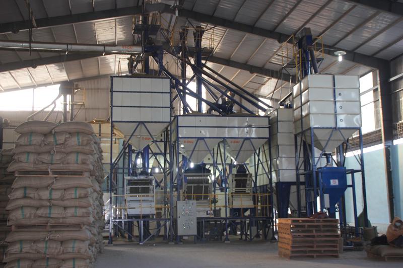 Nhà máy sơ chế cà phê xuất khẩu do DNCK-CĐ Viethien thiết kế và thi công