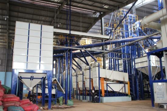 Nhà máy chế biến cà phê nhân xuất khâu do CK Viết Hiền chế tạo và lắp đặt tại Hoa Trang